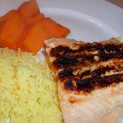 Glazed Grilled Salmon Fillets