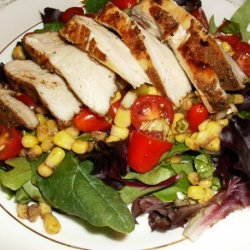 Coriander Chicken With Tomato Corn Salad