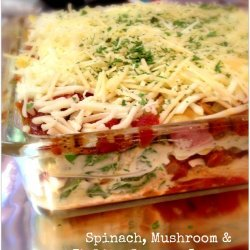 Mushroom, Spinach & Sausage Lasagna