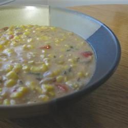 Spicy Corn Chowder recipe