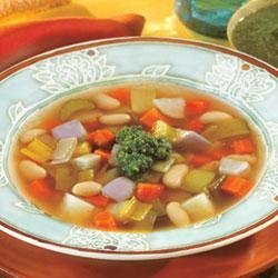 Swanson(R) Winter Vegetable Bean Soup with Pesto