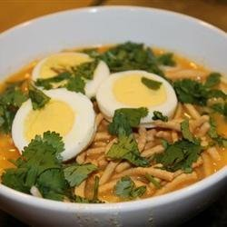 Burmese Chicken-Coconut Soup (Ohn No Kyawswe)