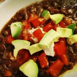 Spicy Smoked Turkey and Black Bean Soup