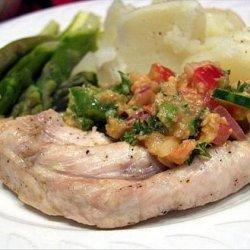 Grilled Chicken Breasts With Gazpacho Salsa