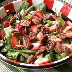 Strawberry and Boursin Spinach Salad