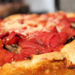 Veggie Deep Dish  pizza