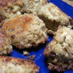 Turkey Croquettes With Mushroom-Rosemary Gravy