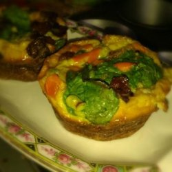 Mini Quiche With Romaine Lettuce Salad