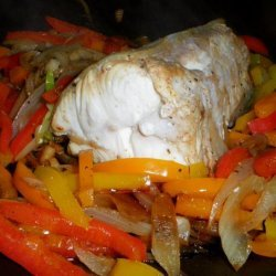 Triple-Pepper Steamed Halibut