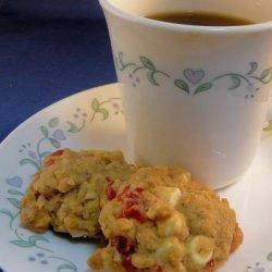 White Chocolate Macadamia Cherry Oatmeal Cookies