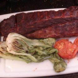 Grilled Baby Bok Choy and Tomato Side Dish