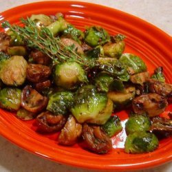 Roasted Brussels Sprouts With Mushrooms
