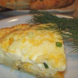 Crustless Salmon Quiche recipe