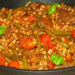 Lamb and Green Bean Stew With Spelt (farro)