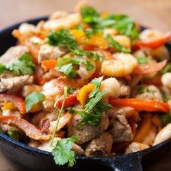 Shrimp Chicken Skillet
