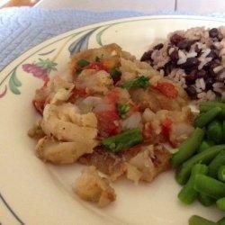 Corvina a La Chorillana (Peruvian Fish in Spicy Tomato Sauce)