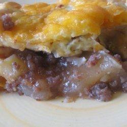 Apple- Sausage- Cheddar Breakfast Bake