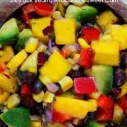 Corn, Black Bean and Mango Salsa