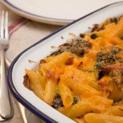 Pasta with Broccoli, Cheese and Bacon