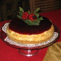 Vanilla Bean Cheesecake & Ruby Topping