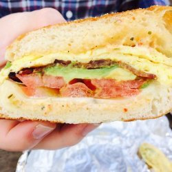 Avocado & Tomato English Muffin Sandwich