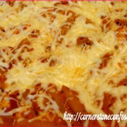 Three Cheese Chicken Penne Pasta Bake recipe