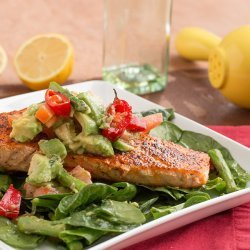 Spinach and Salmon Salad