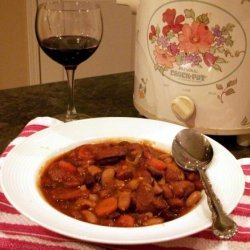 Crock Pot Kielbasa Cassoulet