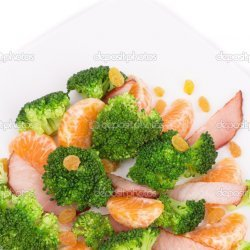 Broccoli, Raisin, Orange Salad
