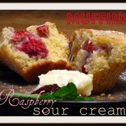 Raspberry Sour Cream Muffins