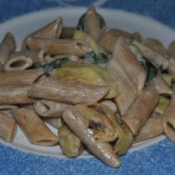 Spinach Artichoke Pasta (Pioneer Girl)