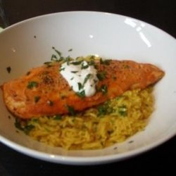 Red Curry Chicken With 'faux Saffron' Rice