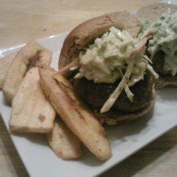 Boriqua Pork Burgers With Creamy Sofrito Ranch Slaw #RSC