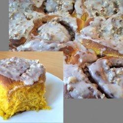 Pecan & Pumpkin Cinnamon Buns (Bread Machine) Halloween Spec recipe