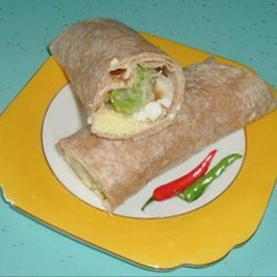 Egg, Onion & Lettuce Wraps