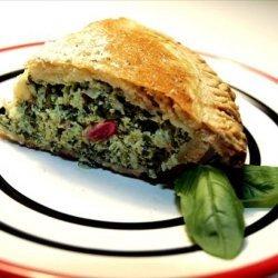 Fresh Spinach & Basil Pie