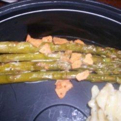 Easy Creamy Baked Asparagus (Gluten Free) recipe