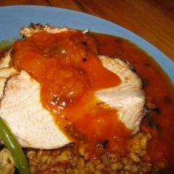 Barbecue Roast Pork With Fruity Sweet and Sour Sauce