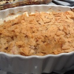 Chicken Casserole With Potato Chip Topping
