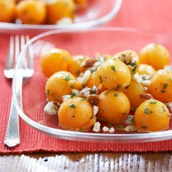Cantaloupe and Blue Cheese Salad