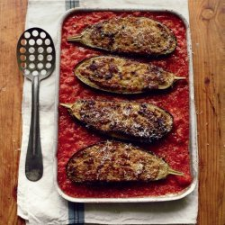 Stuffed Eggplants in Tomato Sauce
