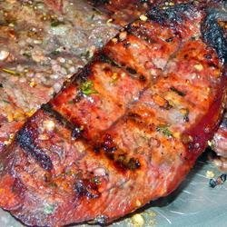 Flat Iron Steaks Marinated in Red Wine
