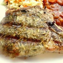 Mediterranean Grilled Pork Chops recipe