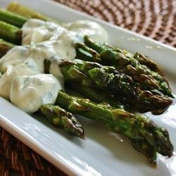 Grilled Asparagus with Cilantro Lemon Butter
