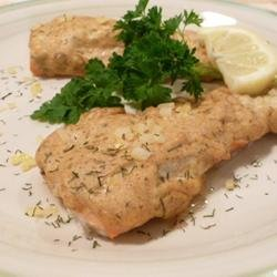 Cedar Planked Salmon with Dill recipe