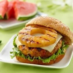 Teriyaki Pineapple Turkey Burgers from DOLE(R)