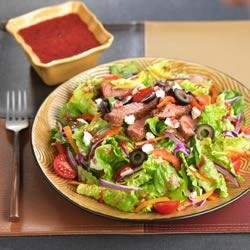 Blackened Steak Salad with Berry Vinaigrette