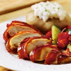 BBQ Bacon-Wrapped Chicken