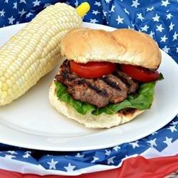 Cheddar Bacon Hamburgers with Horseradish