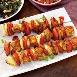 Thai Teriyaki BBQ Chicken Kabobs